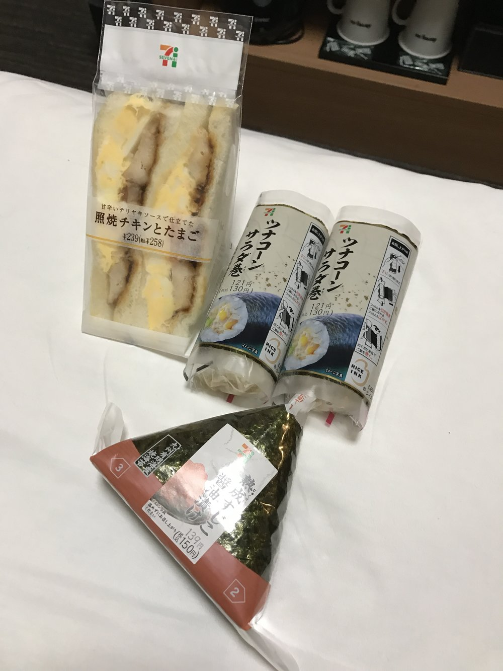 7-11 or Lawson has these delicious rolls and ikura onigiri!