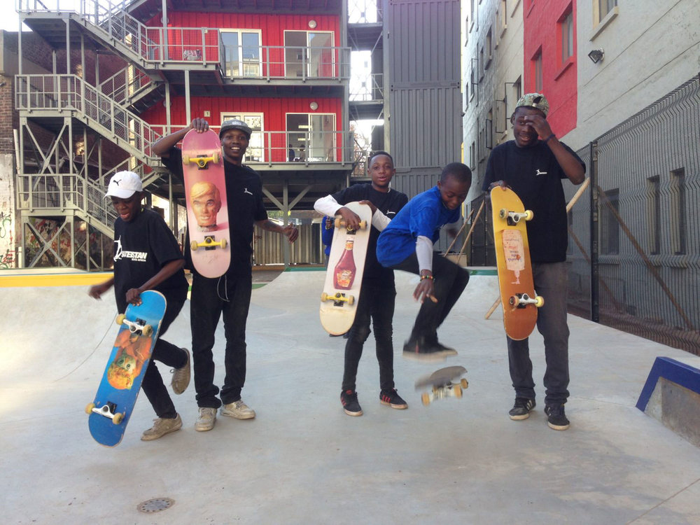 The Skateroom finances programs developing Skate parks in South Africa