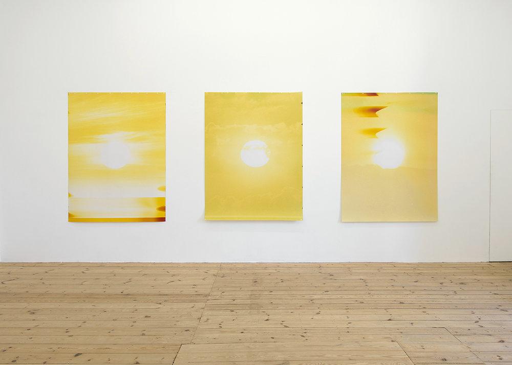 Sébastien Reuzé,  Rising Sunset,  exhibition view, Catherine Bastide gallery, Brussels, 2017