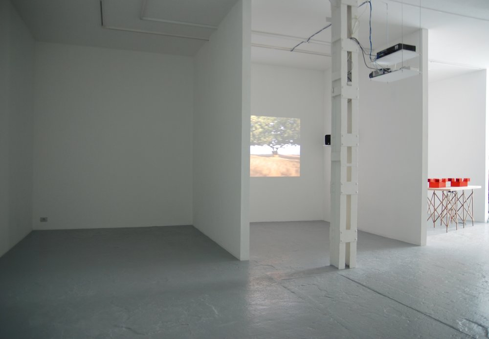 Jean-Pascal Flavien,  Viewer in Maric  á , exhibition view, Catherine Bastide, Brussels, 2007