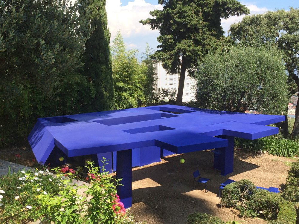 Jean-Pascal Flavien,  folding house (to be continued) , 2016, permanent installation at Villa Paloma, Monaco