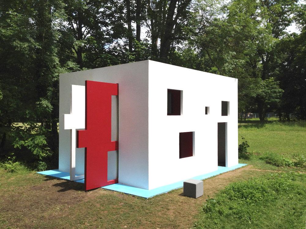Jean-Pascal Flavien,  breathing house,  2012, Pougues-les-Eaux.