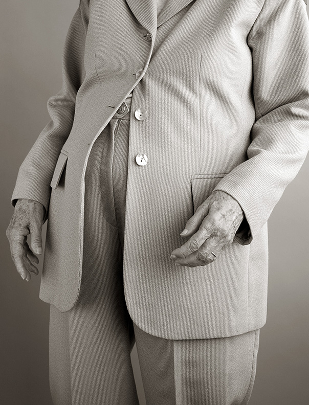 Joe Mama-Nitzberg,  May Nitzberg in a Polyester Suit , 2011, ultrachrome print, 21 x 18 inch