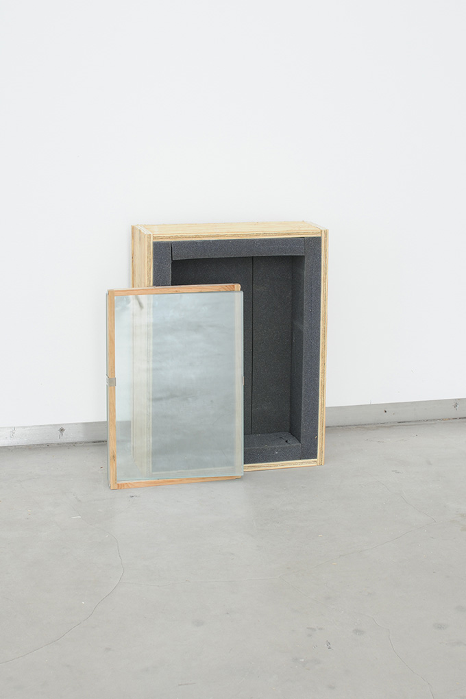 Manuel Burgener,  Untitled , 2013, plywood, glass, foam, screws,nails, clips, dimensions variable, edition 3/4 + 1ap
