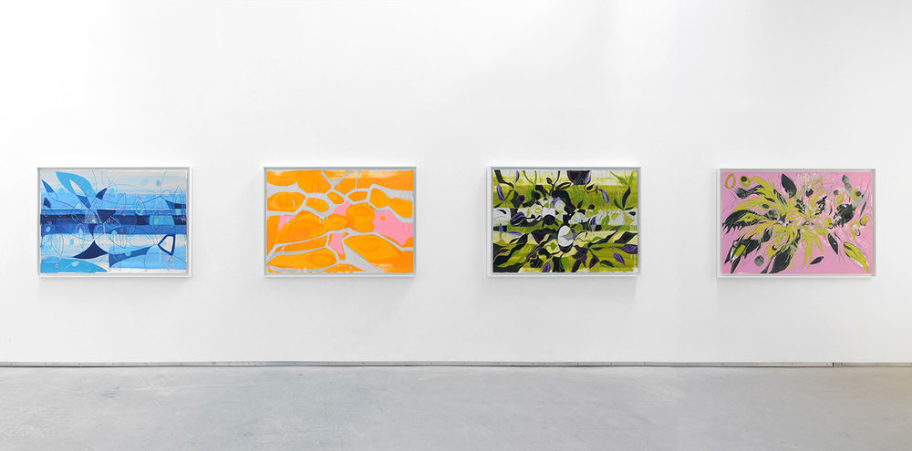 Janaina Tschäpe,  The Forest, The Cloud and The Sea , Catherine Bastide gallery, Brussels, 2013, exhibition view