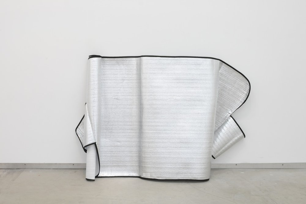 Freek Wambacq,  Untitled (CB Sun Reflector) , 2012, sun visor, 85 x 120 x 30 cm