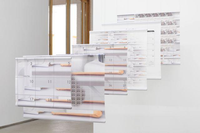 Sean Raspet,  September , 2012,7 vinyl mesh banners and electrical conduit, dimensions variable