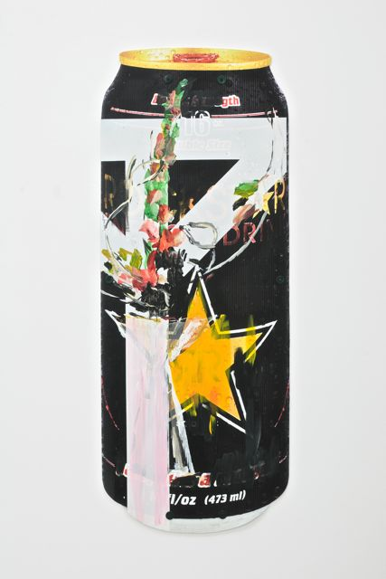 Untitled Arrangement (blk can #2) , 2012, corrugated plastic, acrylic, rigid plastic paint - 134,7 x 51,7 cm (53 x 20.5 inch)
