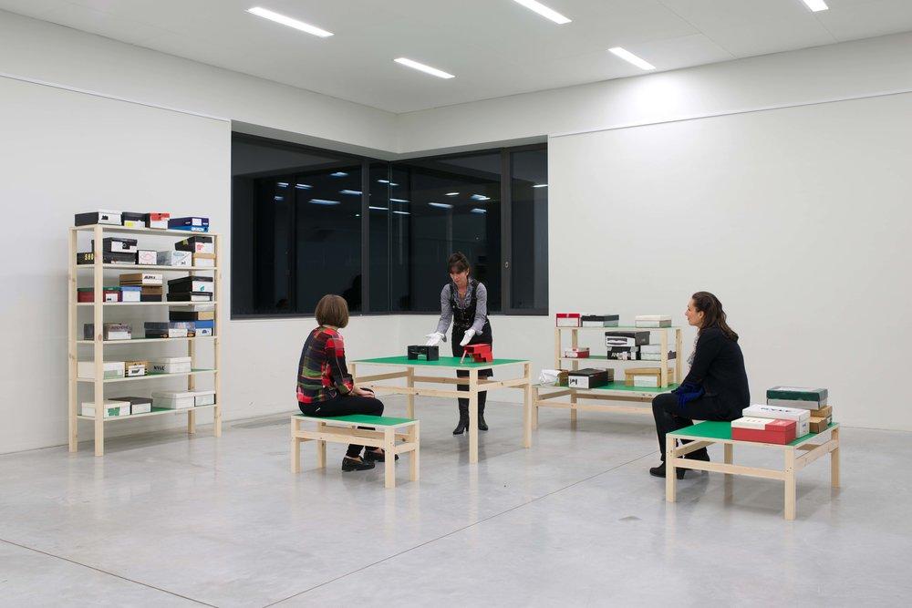 Jean-Pascal Flavien,  Los Angeles models , MLeuven, 2015, exhibition view