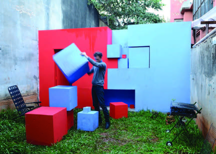 no drama house  , manipulating the cubes, March 2011