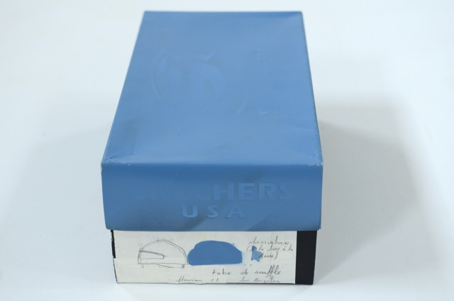 Tube de souffre, 2001 with annotated shoebox