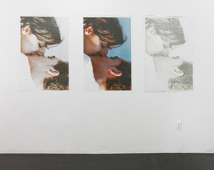 Valerie Snobeck,  Grand Beauty Salon , Peeled print on plastic, exhibition view