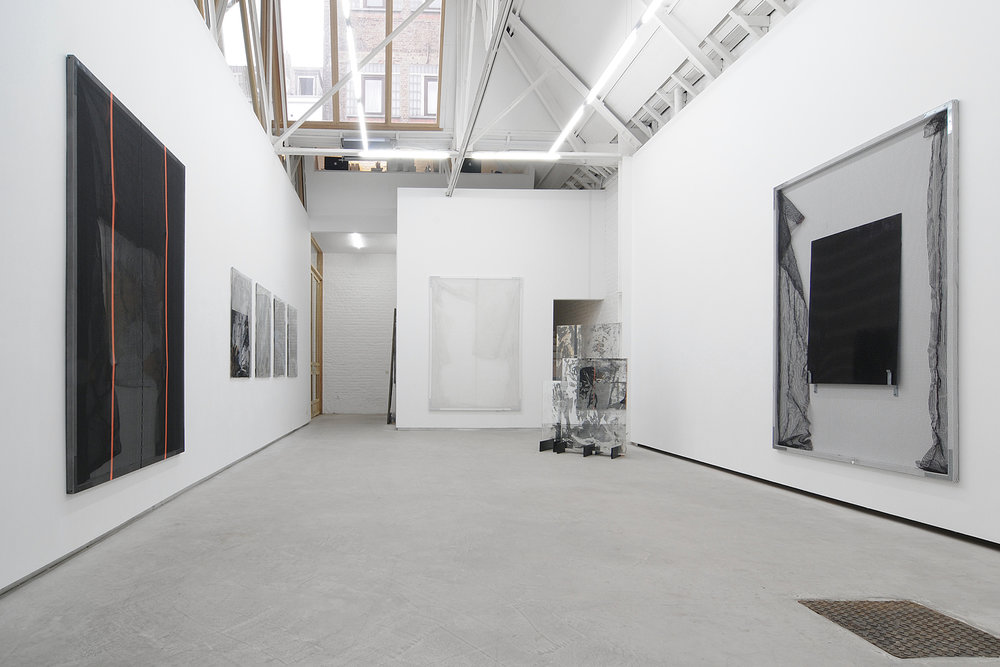 Valérie Snobeck,  Black Optic With Rope , Catherine Bastide gallery, Brussels, 2011, exhibition view