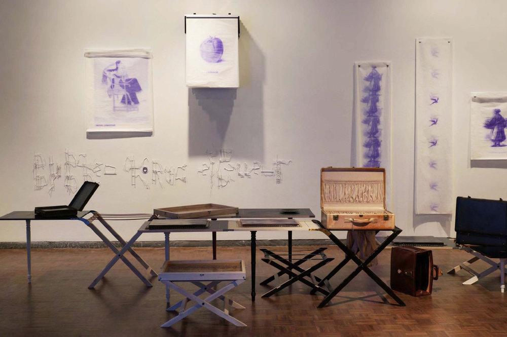 Valerie Snobeck / Catherine Sullivan,  Image of Limited Good , 2014, Whitney Biennial, installation view