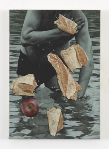 Oliver Osborne ,  'Untitled',  2017, oil on linen, 19 x 13 1/2 in (48 x 34 cm)