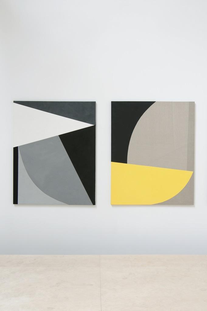 Sarah Crowner,  Ballet Plastique , Catherine Bastide gallery, 2011, exhibition view