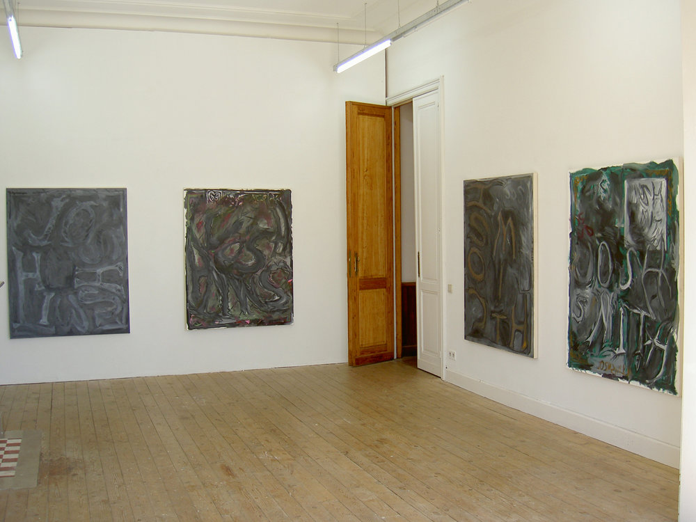 Josh Smith, Catherine Bastide gallery, Brussels, 2003, exhibition view