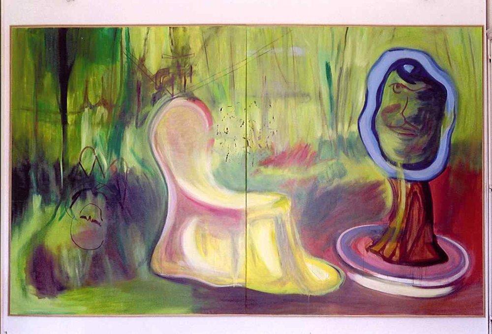 Albert Oehlen, Der Ursprung II, 2002, huile sur toile, 280,5 x 460,5 cm