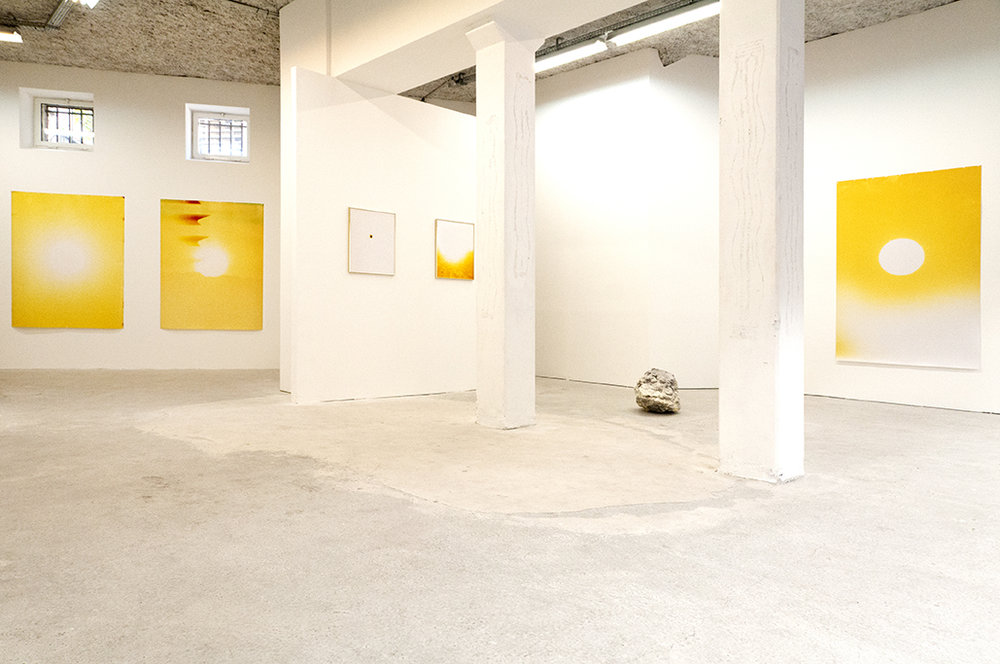 Sébastien Reuzé,  Rising Sunset , exhibition view, Catherine Bastide projects, Marseille, 2017