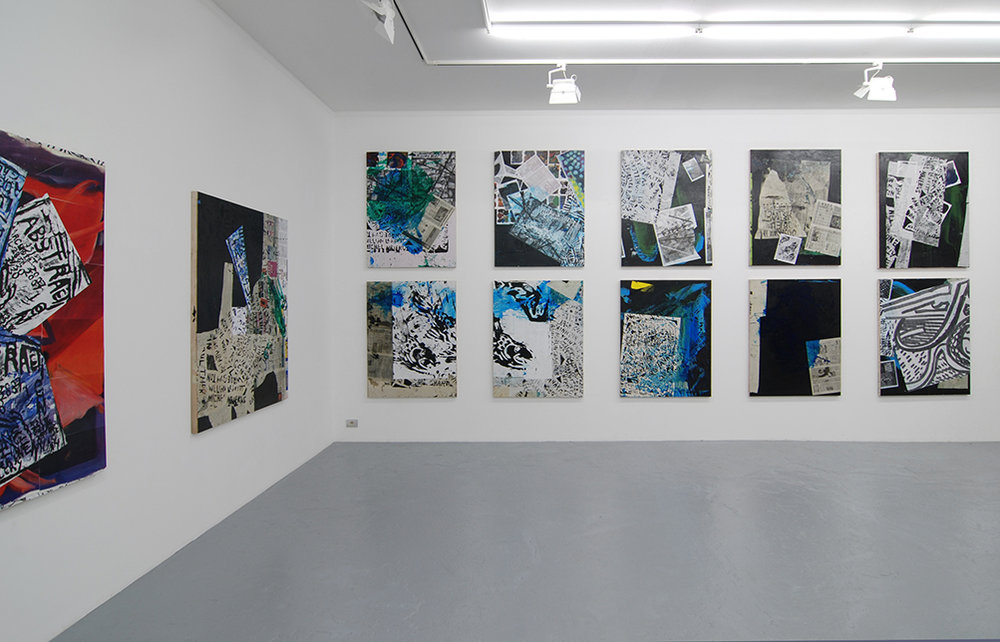 Josh Smith, Catherine Bastide gallery, 2008, Brussels, exhibition view