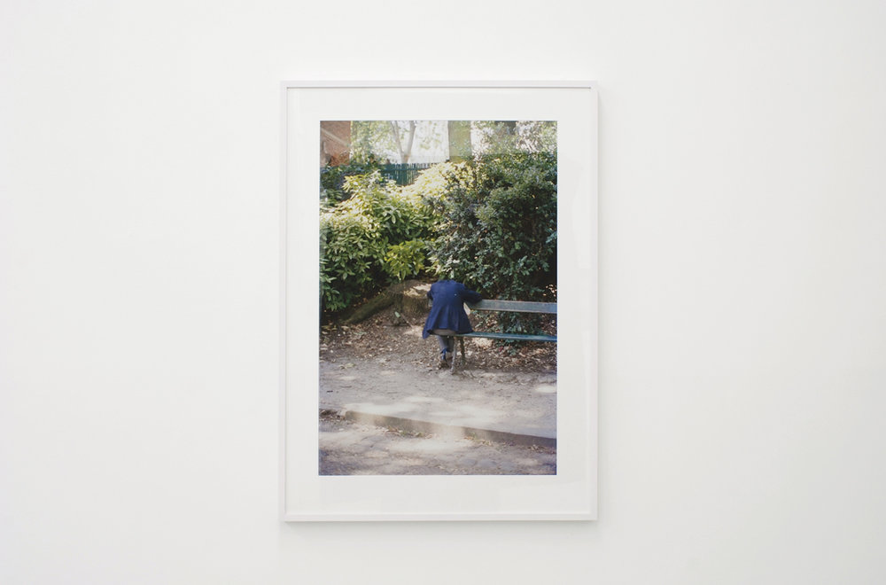 Ola Rindal,  Man on the bench,  2009, Lightjet print, 80 x 55 cm