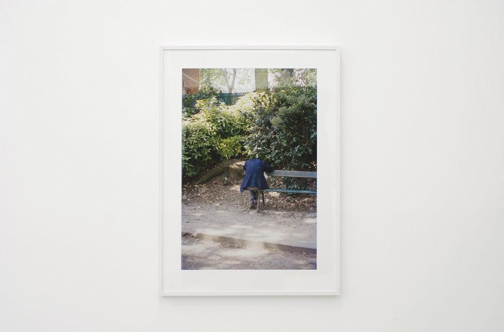 Ola Rindal,  Man on the bench,  2009, Lightjet print, 80 x 55 cm