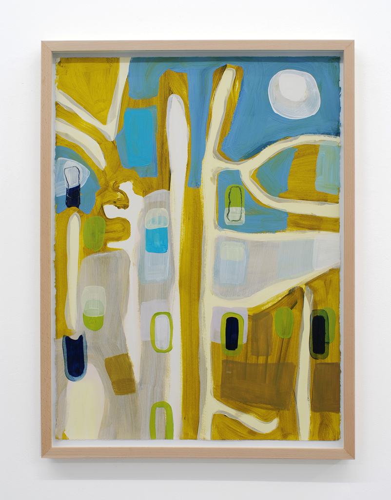 Landscape 1,  2009, oil on paper drawing, 73,7 x 53,3 cm