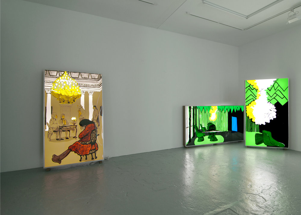 T.Kelly Mason,  Who are the luminaries of our time,  Catherine Bastide gallery, exhibition view, 2008