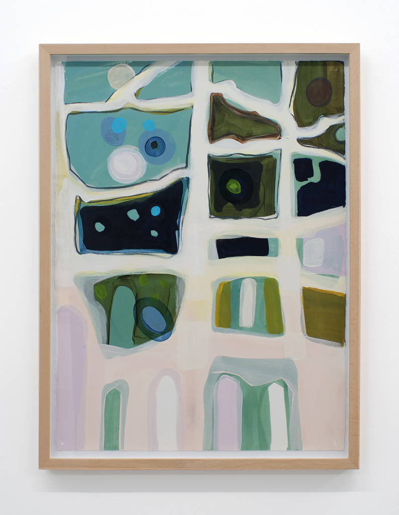 Landscape 5 , 2009, oil on paper drawing, 73,7 x 53,3 cm