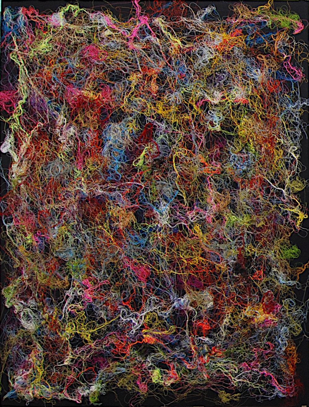 Tableau de fil,  2008, (coton/fil- 130 x 170 cm)
