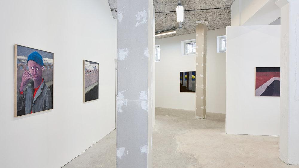 Gijs Milius,  Le long des raduses , Bastide Projects, Marseille, exhibition view, 2018. ©D.Giancatarina