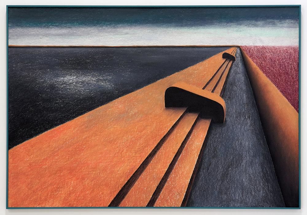 Gijs Milius,  Sans titre , 2018, Techniques mixtes, 114 x 77 cm. ©D.Giancatarina