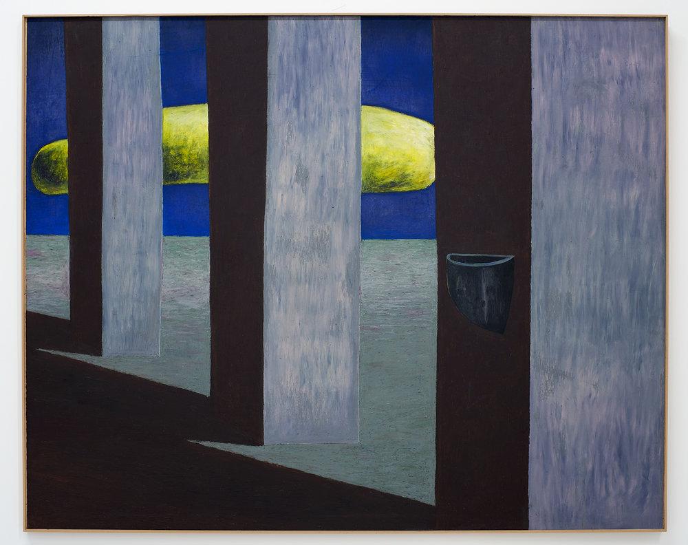 Gijs Milius,  Sans titre , 2018, techniques mixtes, 130 x 105 cm. ©D.Giancatarina