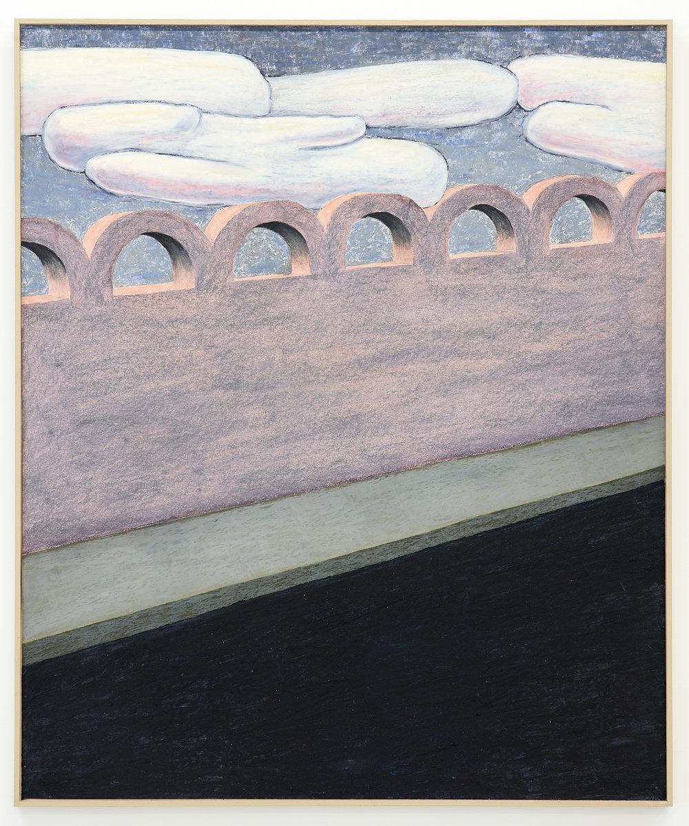 Gijs Milius,  Sans titre , 2018, Techniques mixtes, 85 x 72 cm. ©D.Giancatarina