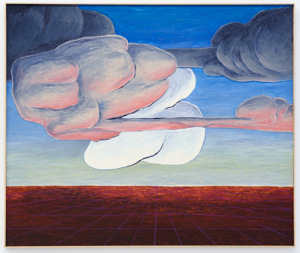 Gijs Milius,  Nuages , 2018, Techniques mixtes, 100 x 84 cm. ©D.Giancatarina
