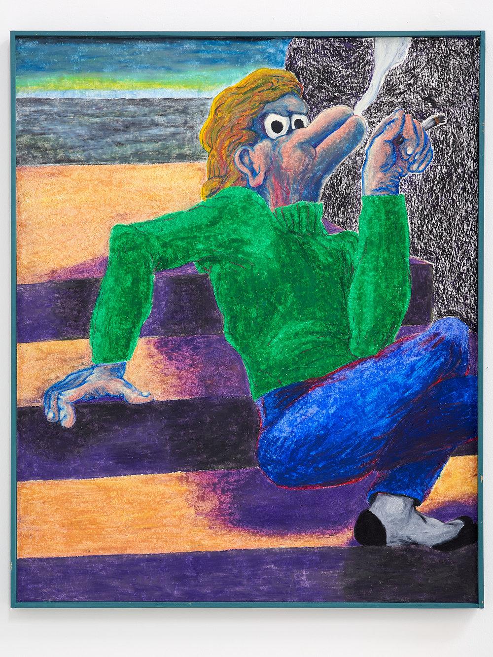Gijs Milius,  Sans titre , 2018, Techniques mixtes, 67 x 55 cm. ©D.Giancatarina