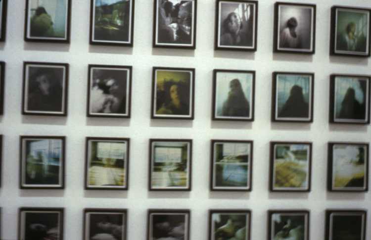 Janaina Tschäpe,  He drowned in her eyes as she called him to follow , Catherine Bastide gallery, Brussels, installation view, 2000