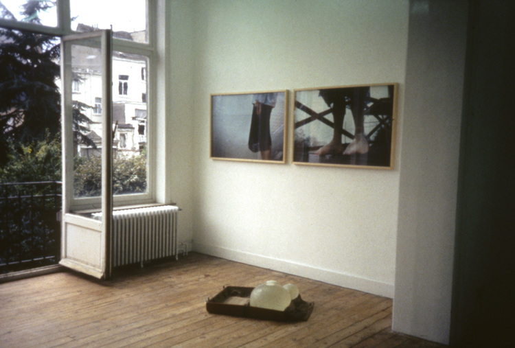 Janaina Tschäpe,  He drowned in her eyes as she called 0him to follow , Catherine Bastide gallery, Brussels, installation view, 2000