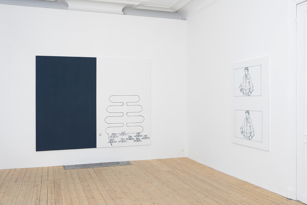 Oliver Osborne, Catherine Bastide gallery, Brussels, exhibition view 2015