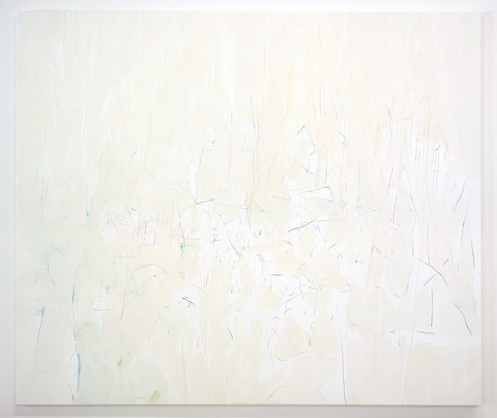 White Light ,  2018, Casein on canvas, 79 x 92 in (200 x 233 cm)