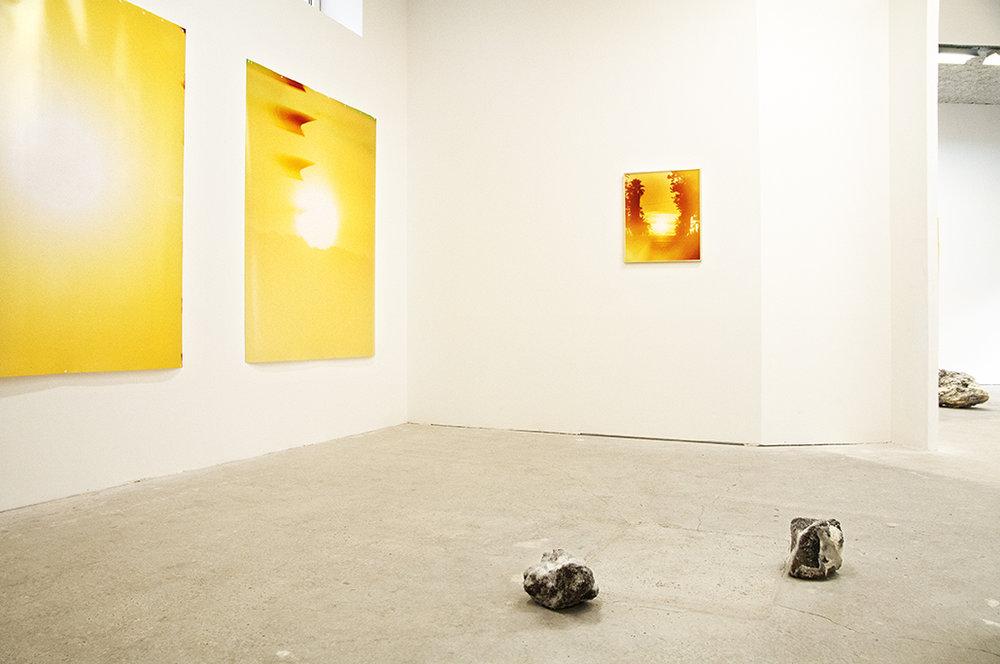 Rising Sunset , Sébastien Reuzé, exhibition view, Catherine Bastide projects, Marseille, 2017