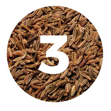 KUMMEL - A continuación usamos las notas amargas de las semillas kummel para despertar nuestros sentidos dando texturas y capas extras a nuestra selva.