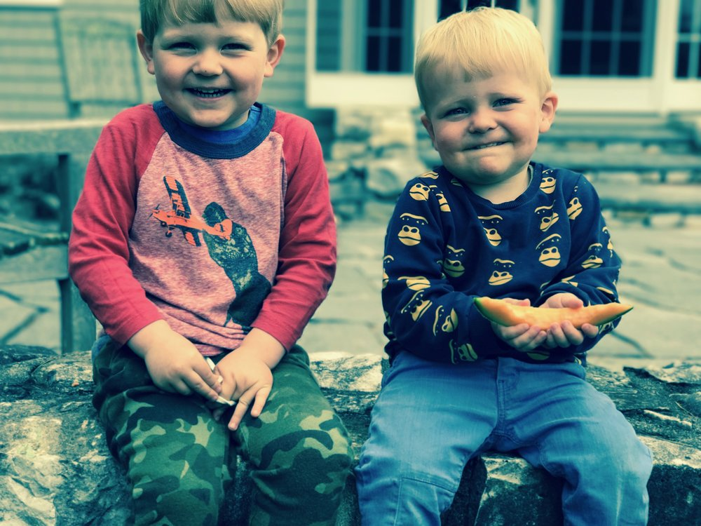 I am a mother and these are my sons, Teddy (4) and Sam (2). We live in Brooklyn.