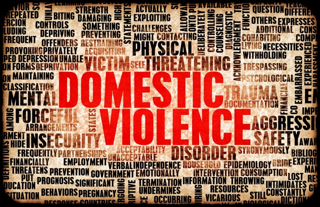 Domestic Violence Word Art Image (Unspoken Voices)