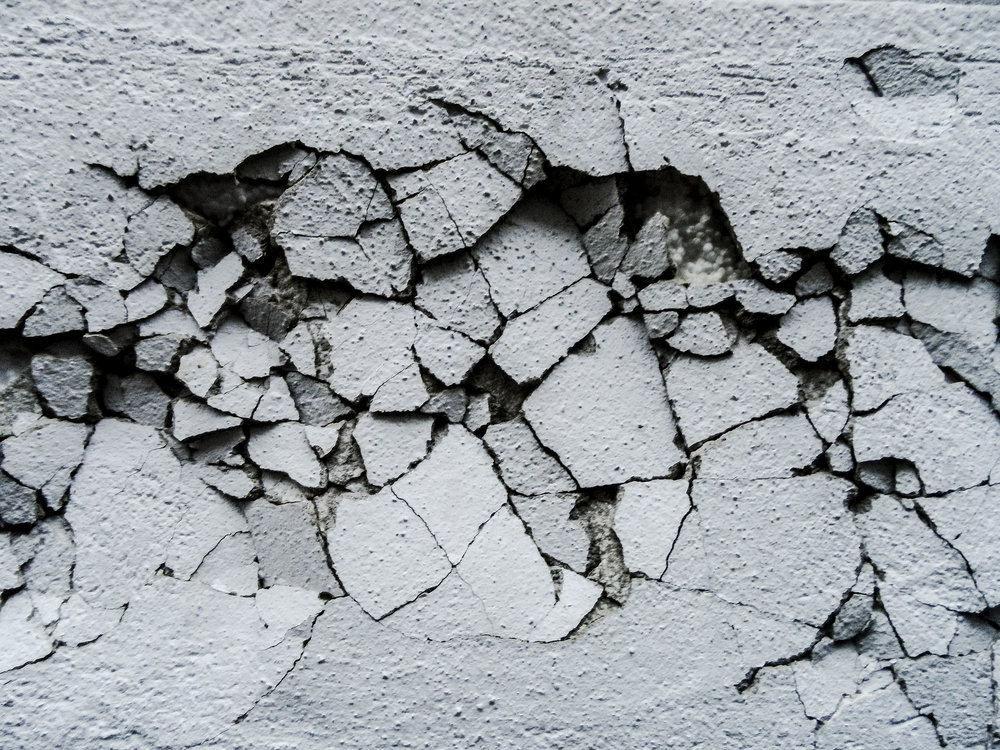 Cracks in wall.