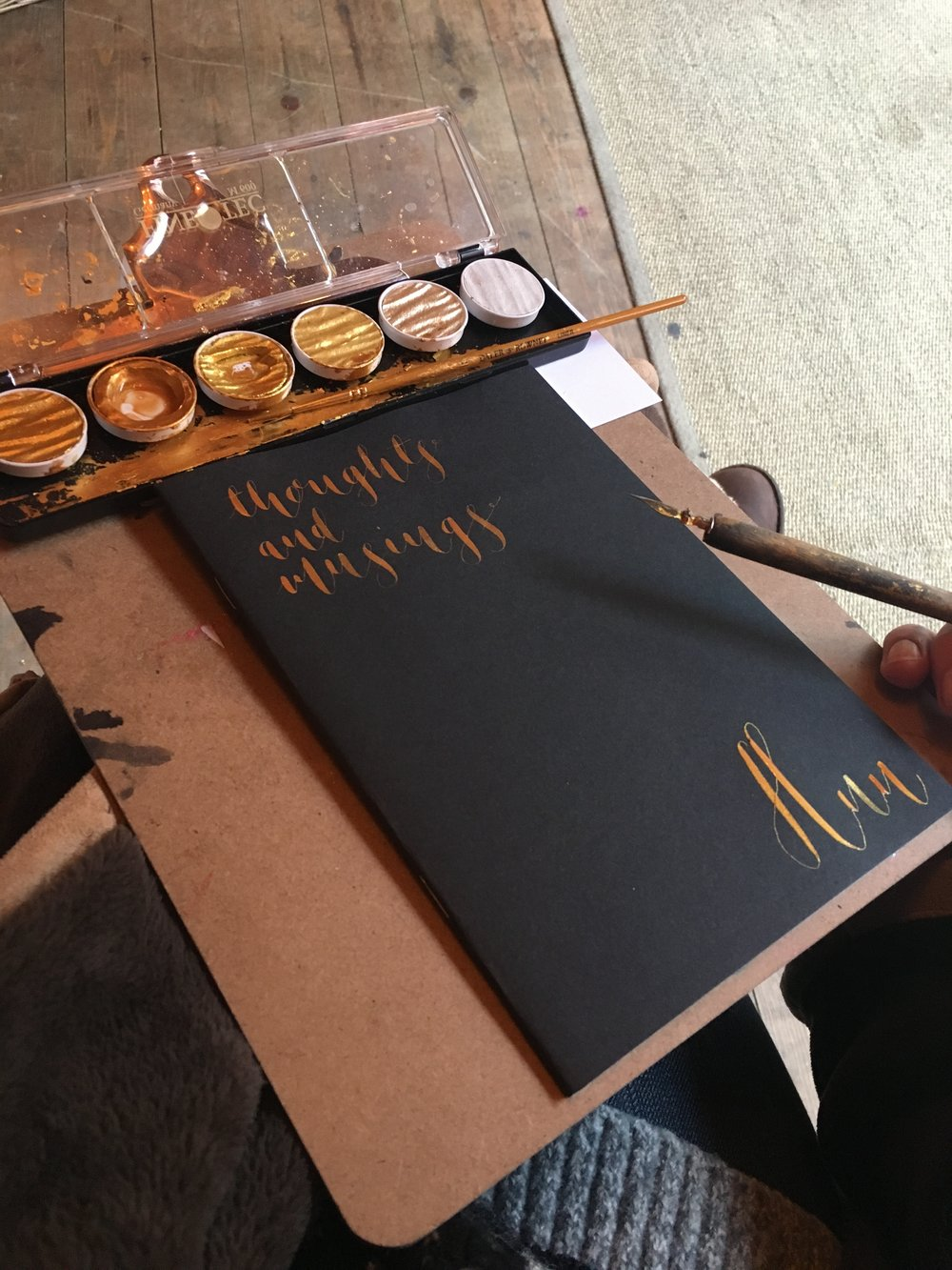 Personalised notebook - We love adding this personal touch to our products. All done by hand.