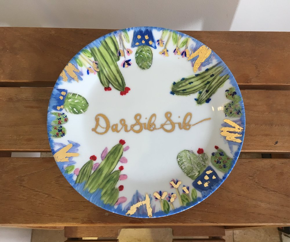 Personalised Plate - Personalised plate for a couples holiday home in Morocco.