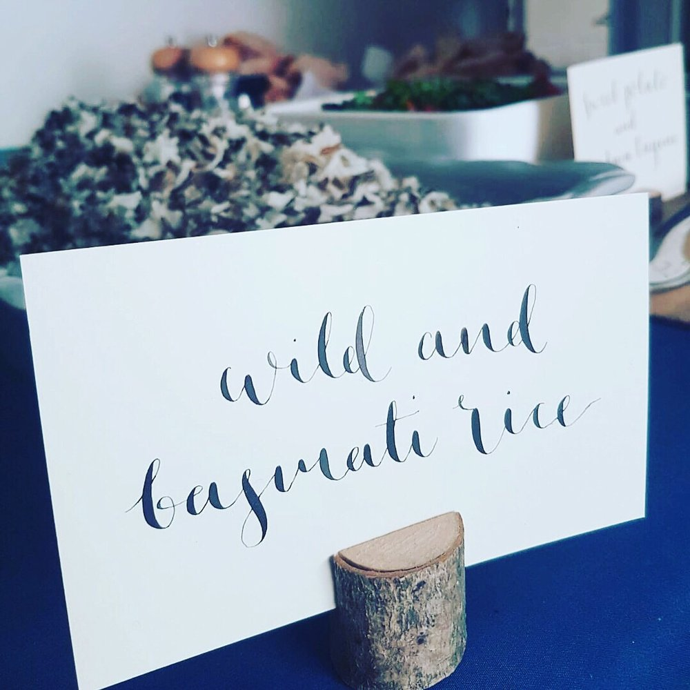 Calligraphy Name Cards - Adding a special touch for a Birthday Party.