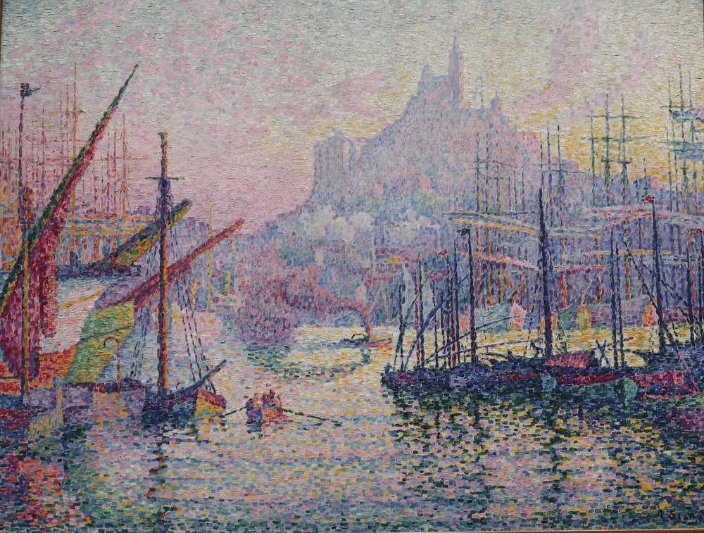 Notre-Dame-de-la-Garde (La Bonne Mere), Marseilles by Paul Signac 1905-06.  The Metropolitian Museum of Art, NYC, personal photo