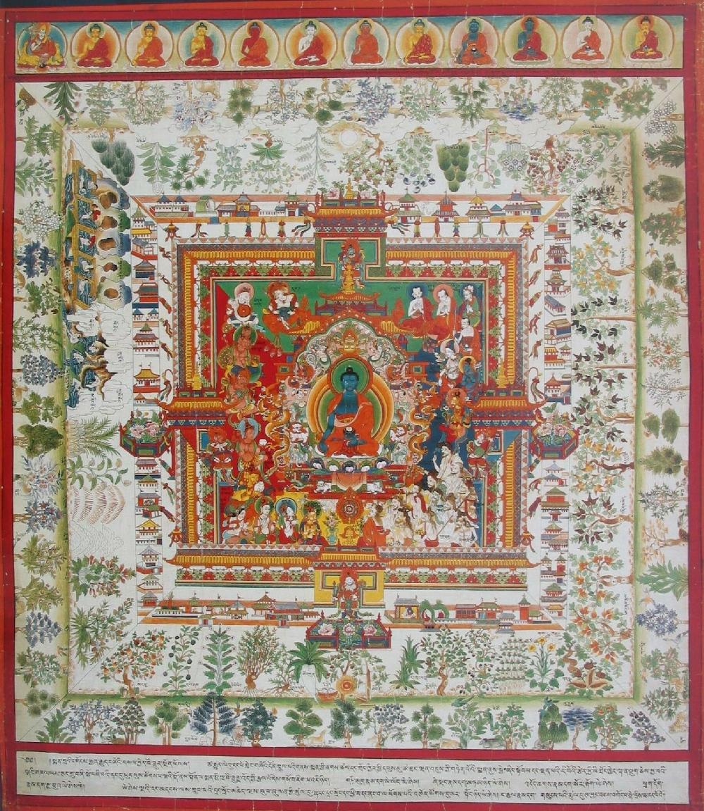 Blue Beryl - Medicine Buddha | Tibet | 1800 - 1899 | Buddhist Lineage (HAR #77096).jpg